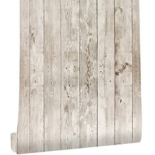 Große Speisekammer Ziehen (Moderne Holz Kontakt Papier Weiß Holz Peel Stick Tapetenrolle Selbstklebende Abnehmbare Wandverkleidung Dekorative Vintage Vinyl Faux Holzbrett Aufkleber,90065)
