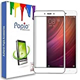 #10: POPIO™ Pro HD+ Full Screen Coverage Tempered Glass Screen Guard Protector for Redmi Note 4 (White)