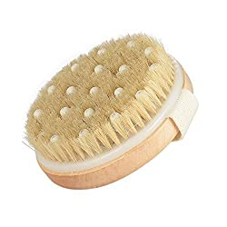 Dry Brushing-Body Brush-Natural Bristles for Better Exfoliation - Improves Lymphatic Functions - Remove Dead Skin And Toxins