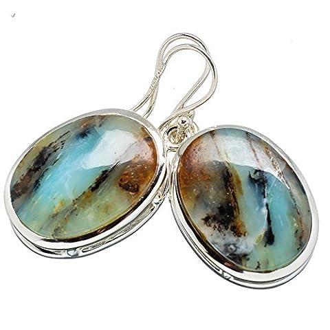 Ana Silver Co Peruvian Opal 925 Sterling Silver Earrings 1 1/2