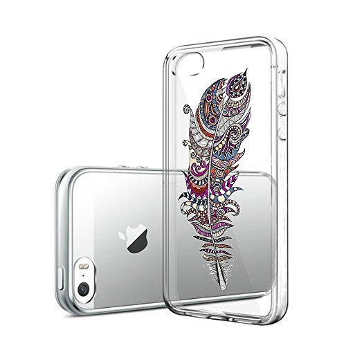 Qissy®TPU Case für iPhone 5 5S SE -Silikon-Hülle Soft Shell-Fall-Schutz Anti Shock Silikon Anti-Staub-beständig Leichtes Painted Dolphins (iPhone 5 5S SE, 10) 14