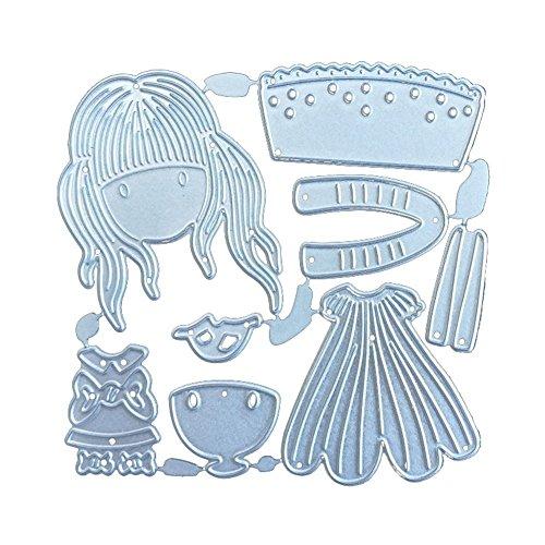 Hemore - Plantillas de troquelado con dibujos animados para manualidades, álbum de fotos, tarjetas de repujado decorativas