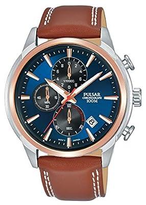 Pulsar Reloj cronografo para Hombre de Cuarzo con Correa en Piel PM3120X1