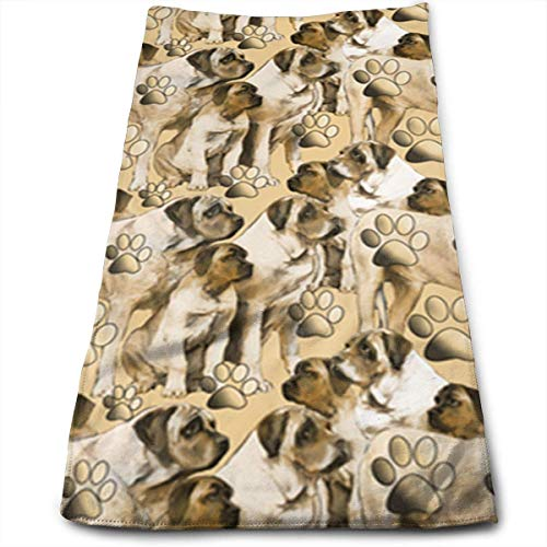 ERCGY Mastiff Fabric Picture Polyester Towels Ultra Soft & Absorbent Bathroom Towels - Great Shower Towels, Hotel Towels & Gym Towels