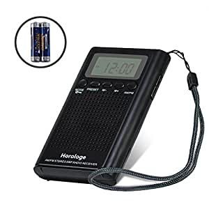 am fm pocket radio portable digital radio alarm clock electronics. Black Bedroom Furniture Sets. Home Design Ideas
