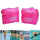 angju Aufblasbare Schwimmflügel für Kinder-Schwimmring, aufblasbar, für Kinder, zum Schwimmen Schwimmen, rose, S