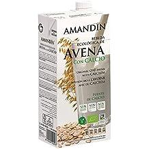 Amandin Bebida de Avena con Calcio - Paquete de 6 x 1000 ml - Total:
