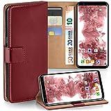 Samsung Galaxy S8 Hülle Dunkel-Rot mit Karten-Fach [OneFlow 360° Book Klapp-Hülle] Handytasche Kunst-Leder Handyhülle für Samsung Galaxy S8 Case Flip Cover Schutzhülle Tasche