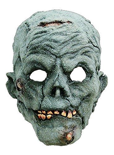 arty Kostüm Zombie Maske des Grauens aus Latex für Erwachsene (Erstaunlich, Schminken Für Halloween)