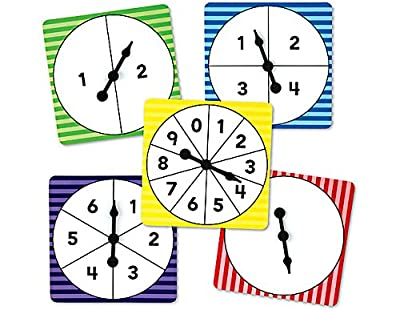 Number Spinners Pack Of 5 by TEACHER CREATED RESOURCES