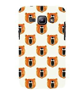 HiFi Designer Phone Back Case Cover Samsung Galaxy J1 (2015) :: Samsung Galaxy J1 4G (2015) :: Samsung Galaxy J1 4G Duos :: Samsung Galaxy J1 J100F J100Fn J100H J100H/Dd J100H/Ds J100M J100Mu ( Bear Face Class Pattern Design )