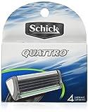 Schick Quattro Refill Cartridges, 4 Cart...