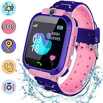 NAIXUES Smartwatch Niños, Reloj Inteligente Niña IP67, LBS, Hacer Llamada, Chat de Voz, SOS, Modo de Clase, Cámara, Juegos, Regalo para Niños de 3-12 ...