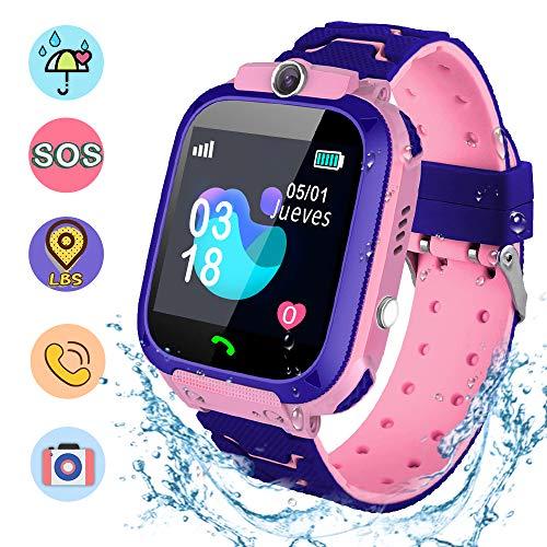 NAIXUES Smartwatch Niños, Reloj Inteligente Niña IP67, LBS, Hacer Llamada, Chat de...