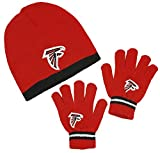 Atlanta Falcons Nfl Little Boys Knit Hat And Gloves Set - Red -