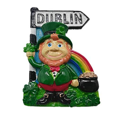 MUYU Magnet 3D Dublin Irland Kühlschrankmagnet, Home & Kitchen Dekoration, magnetischer Aufkleber Dublin Irland Kühlschrankmagnet Reise Souvenir Geschenk Dublin-sammlung