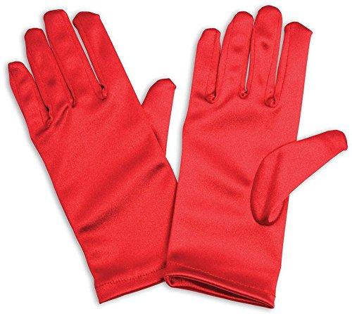 1 Handschuhe, Rot, Unisex-Kinder Einheitsgröße ()