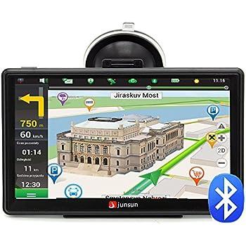 Junsun Navegador GPS 7 Pulgadas con Bluetooth y Mapa de 45