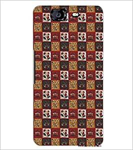 PrintDhaba Pattern D-5256 Back Case Cover for MICROMAX A350 CANVAS KNIGHT (Multi-Coloured)