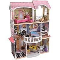 KidKraft 65907 Casa de muñecas Magnolia Mansion de madera con 13 accesorios