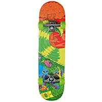 Xootz Kids Complete Beginners Double Kick Trick Skateboard Maple Deck - 31 x 8 Inches