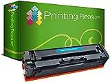 Printing Pleasure 203X Cyan Toner Compatible pour HP Color Laserjet Pro M254 dw/nw MFP M280 nw MFP M281 fdn/fdw | CF541X 2500 Pages