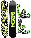 Snowboard Set: Snowboard Raven Core Carbon Rocker + Bindung Raven Fastec FT270 Green L