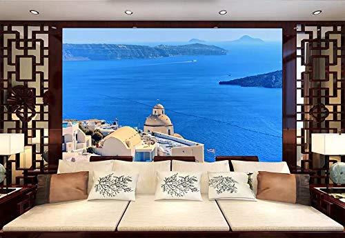 Carta Da Parati 3D Mar Egeo, Sicilia, Italia Moderna Fotomurali 3D Photo Wallpaper Murale