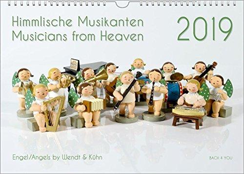 Engel Kalender - Musik-Kalender 2019, DIN-A3: Himmlische Musikanten - Musicians from Heaven