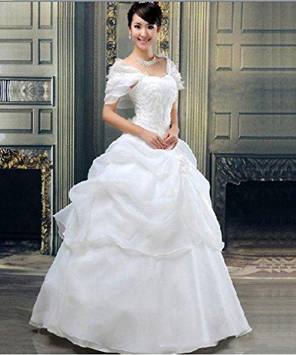SED Moderne Braut Brautkleid Sü?e und Elegante Prinzessin Qi Hochzeit Braut Brautjungfer...
