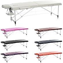H-ROOT 2 Sezione Ultraleggera in Alluminio Portatile Tavolino Massaggio da Salotto Base Plastificante Terapia Tatoo Salon Reiki Healing Massaggio Svedese con Borsa di Transporte Gratuito (10.3KG)