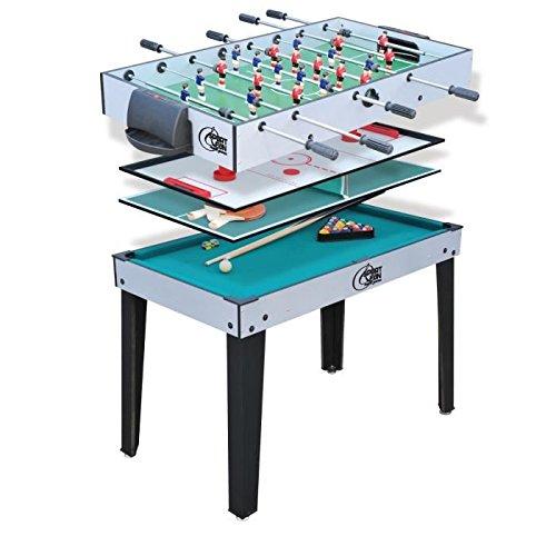 SPORT AND FUN 5847 Table de Jeux 4 en 1 avec Pied Mixte Enfant, Vert