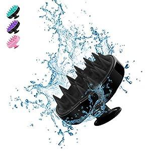 Kopfhaut Massage Bürste, BELICOO Massage Shampoo Pinsel, Silikon Kamm, für den Nass- und Trockengebrauch, für Zuhause/Büro/Erwachsene/Kinder/Haustiere (Schwarz)