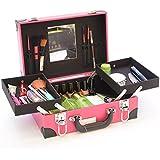 Travel Makeup Train Case Makeup Cosmetic Suitcase Organizer Portable Artist Storage Bag For Cosmetics Makeup Brushes...