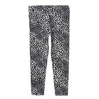 Bluezoo Kids Girl's Grey Leopard Print Leggings Age 8-9