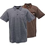 Regatta Pinto Mens Coolweave Fabric Vintage Wash Striped Polo T-Shirt