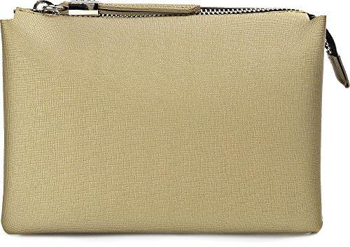 GUM, Damen Handtaschen, Clutches, Umhängetaschen, Abendtaschen, 21 x 15 x 8 cm (B x H x T) Gold