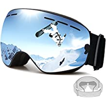 FENYI profesional gafas de esquí UV Protección Gafas para la nieve con UV 400 de doble lente antiniebla para hombres y mujeres