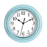Foxtop Silent Wanduhr Batteriebetrieben Klassisch Retro Quarz Dekorativ 9-Zoll Rund Einfach Einfach Zu Hause/Büro / Schule Uhr Lesen