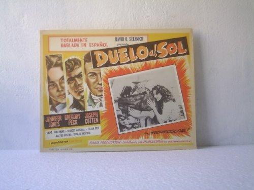 Original Mexican Lobby Card Duel In The Sun Gregory Peck Jennifer Jones Josep...