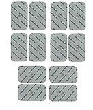 12 Stück Druckknopf Größen 9cm x 5cm Elektroden Pads passend zu TENS EMS Geräten Sanitas und Beurer