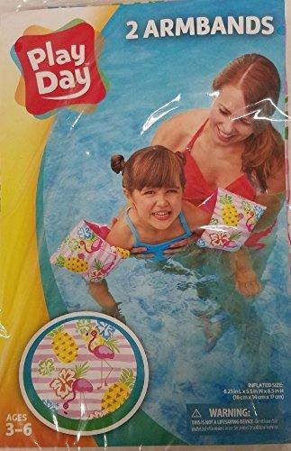 Play Day Im Alter Von 3 Bis 6 Armband Schwimmflügel (Flamingo Ananas)