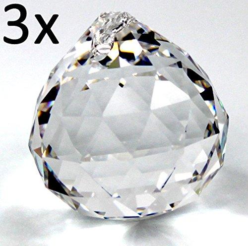 3x Palla Sfera di cristallo palla pendplo sun catcher 20mm