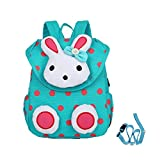 Cute Rabbit Kinder Rucksack Kleine Schultasche für Mädchen Buch Tasche für Kleine Kinder unter 3 Jahr (Grün)