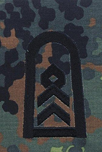 Bundeswehr Rangschlaufen, Stabsfeldwebel, flecktarn, schwarz bestickt