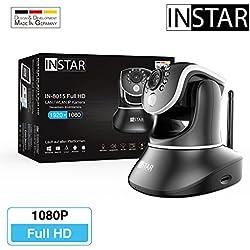 INSTAR IN-8015 Full HD IP Kamera / 1080p / ONVIF / Netzwerk / Überwachungskamera / Videokamera / Sicherheitskamera / LAN WLAN WIFI / PIR / WDR / Bewegungserkennung / Infrarot Nachtsicht / Weitwinkel / steuerbar / Mikrofon / Lautsprecher / Baby Monitor / P2P / DDNS