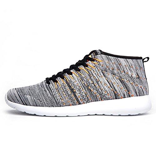 Affinest Ladies Sneakers Running Da Uomo Calzature Sportive Summer Lace-up Sport Casual Mesh Traspirante Leggero Outdoor Calzature Da Ginnastica Grigio-b