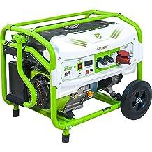 Groway GEN 5500TB - Generador eléctrico a gasolina de 389 cc, 5500W, 230 V, trifásico con arranque manual