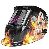 KUNSE Blutige Mädchen Solar Auto Verdunkelung Schweißer Maske Helm Electrowelding Schweißen Tig Mig Schweißer Linsen Maske