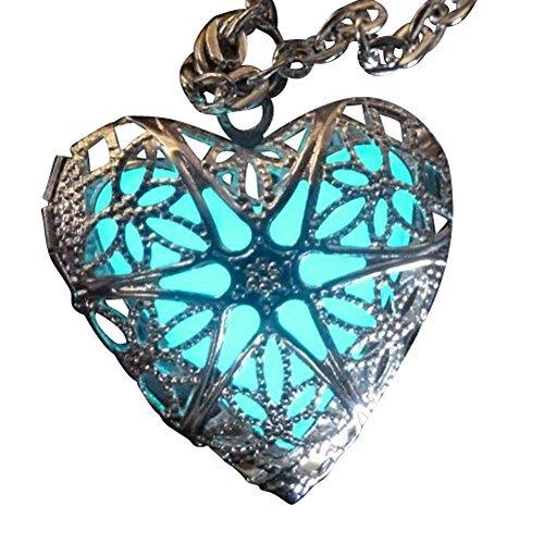 (UMBRELLALABORATORY Steampunk Fairy Magische Glow in The Dark Heart Wie Maßgeschneiderte Halskette-Geschenke für Teenager Mädchen, Mutter, Vater, Kleine Mädchen Schmuck)